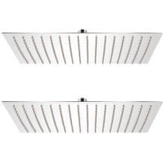Dešťové sprchové hlavice 2 ks 30 x 40 cm nerezová ocel