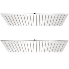 Dešťové sprchové hlavice 2 ks 30 x 50 cm nerezová ocel