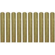 20 impregnowanych sztachet, drewno, 60 cm