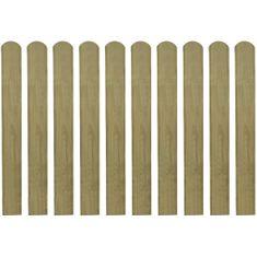 20 impregnowanych sztachet drewnianych, 80 cm