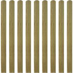 shumee 20 ks impregnované plotovky dřevo 120 cm