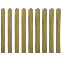 shumee 20 ks impregnované plotovky dřevo 100 cm