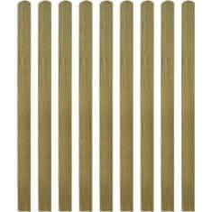 shumee 20 ks impregnované plotovky dřevo 140 cm