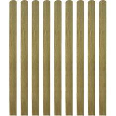 shumee 30 ks impregnované plotovky dřevo 140 cm