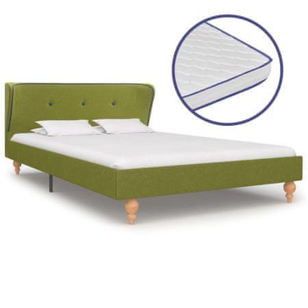 shumee zöld szövetágy memóriahabos matraccal 120 x 200 cm