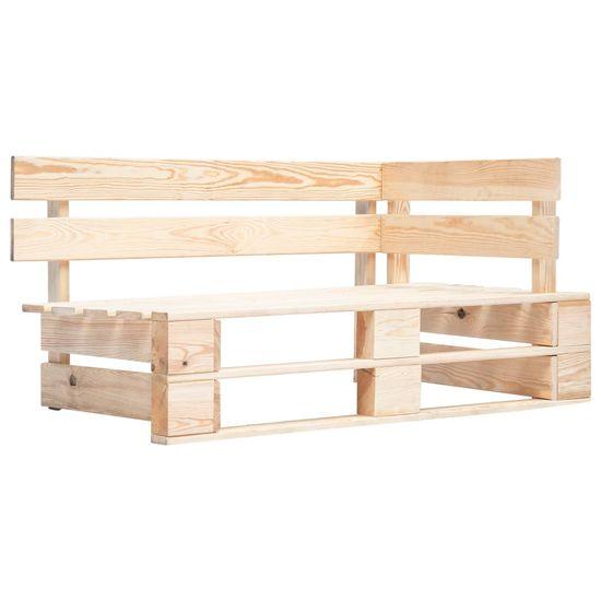 Rohová záhradná lavička z paliet, drevo
