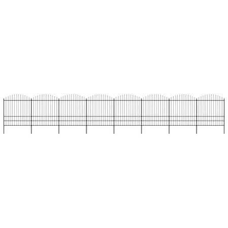 shumee fekete lándzsahegy tetejű acélkerítés (1,75-2) x 13,6 m