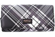 COVERI Dámská károvaná peněženka Coveri - černá