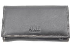 COVERI Dámská kožená peněženka Coveri Collection - černá