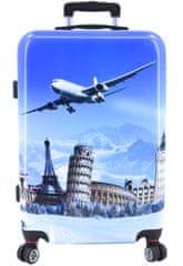 Arteddy Cestovní kufr skořepinový na čtyřech kolečkách Arteddy - Letadlo (L) 100l