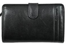 Emporio Valentini Dámská kožená peněženka Valentini Luxury - černá