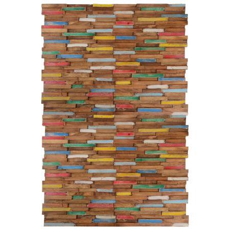 Ścienne panele okładzinowe, 20 szt., drewno tekowe, 2 m²
