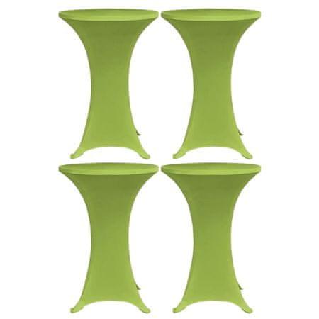 shumee 4 db zöld sztreccs asztalterítő 70 cm