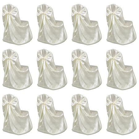 slomart Prevleke za stol za poročne gostije 12 kosov krem
