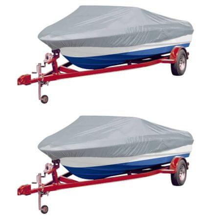 Pokrowce na łódź, 2 szt., szare, dł. 427-488 cm, szer. 229 cm