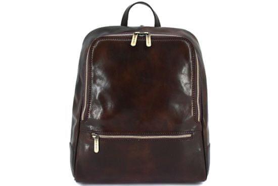Arteddy Dámský kožený batoh Arteddy - tmavě hnědá