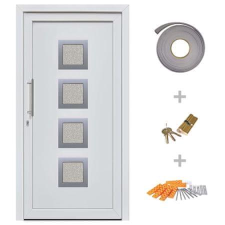 Drzwi wejściowe zewnętrzne, białe, 108 x 208 cm