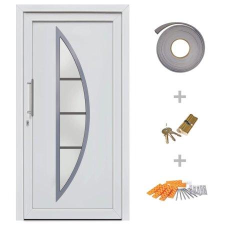 shumee Drzwi wejściowe zewnętrzne, białe, 98 x 200 cm