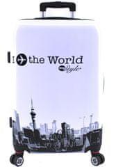 Arteddy Cestovní kufr skořepinový na čtyřech kolečkách Arteddy - In the World (M) 70l
