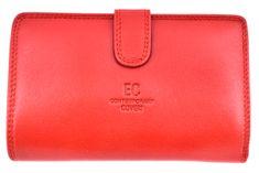 COVERI Dámská kožená peněženka Coveri - červená