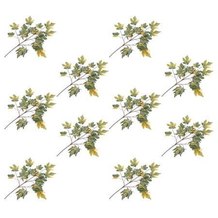 shumee Sztuczne gałązki klonu, 10 szt., zielone, 75 cm