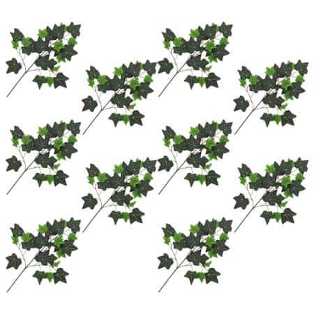 shumee 10 darab zöld mű borostyánlevél 70 cm