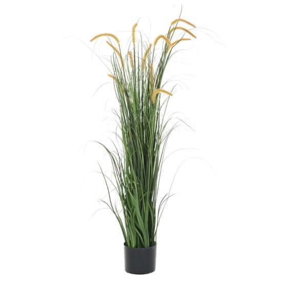 Umelá tráva v kvetináči s pálkou 160 cm