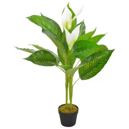 Sztuczna roślina anturium z doniczką, biały, 90 cm