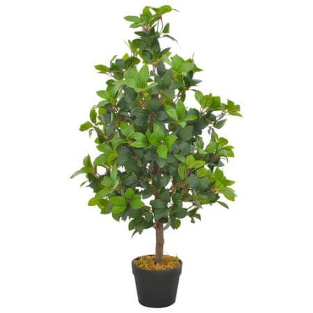 Sztuczne drzewko laurowe z doniczką, zielone, 90 cm