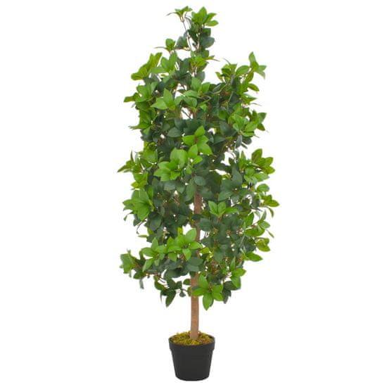 shumee Umělá rostlina vavřín vznešený s květináčem zelená 120 cm