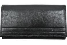 Emporio Valentini Dámská velká kožená peněženka Valentini Luxury - černá