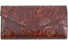 Arteddy Dámská peněženka s květovaným vzorem - hnědá