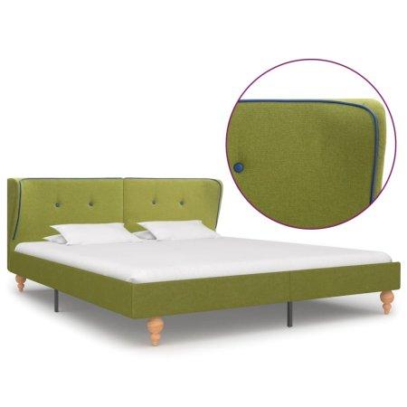 shumee zöld szövetkárpitozású ágykeret 160 x 200 cm