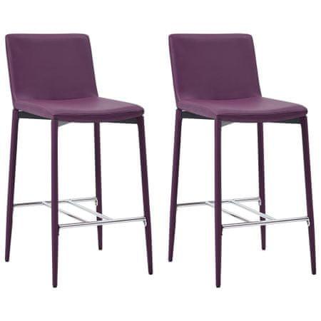 shumee Barski stoli 2 kosa vijolično umetno usnje