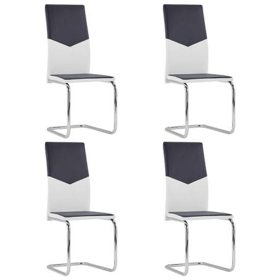 shumee Konzolové jídelní židle 4 ks černé umělá kůže