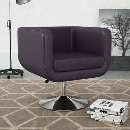 shumee barna műbőr forgatható fotel