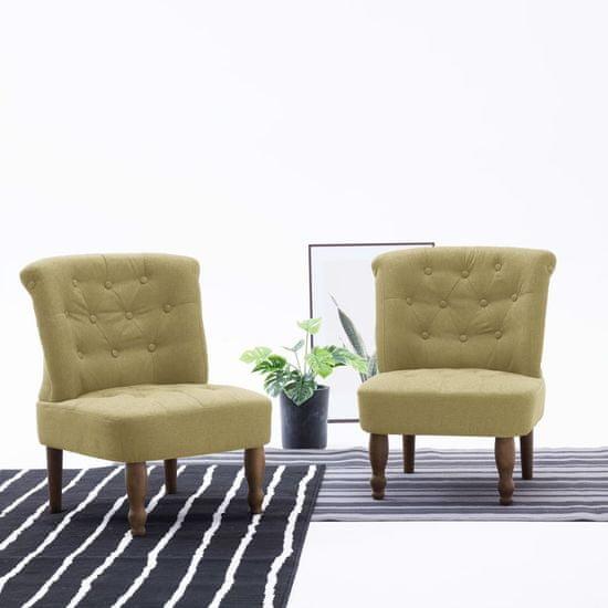 shumee Francouzské křeslo zelené textil