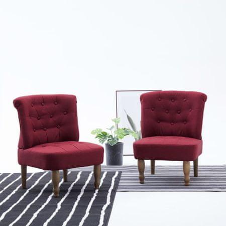 shumee bordó szövetkárpitozású francia szék