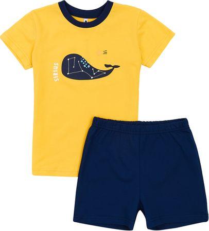 Garnamama Star fantovska pižama, rumeno-modra, 110