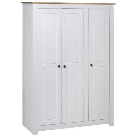 shumee fehér háromajtós panamafenyő ruhásszekrény 118 x 50 x 171,5 cm