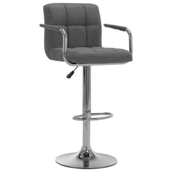 Barová stolička svetlosivá látková