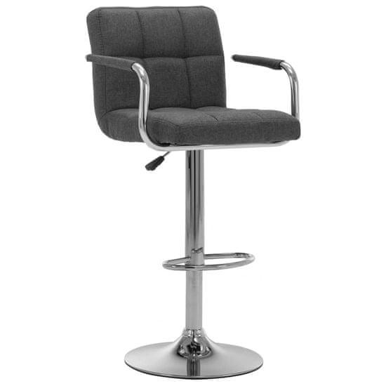 Barová stolička tmavosivá látková