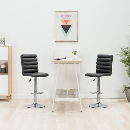 Barová stolička sivá umelá koža