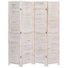 4-panelový paraván 140x165 cm drevený