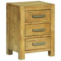 Vidaxl Noční stolek se 3 zásuvkami 40x30x54 cm rustikální dubové dřevo