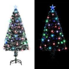 Umelý vianočný stromček s podstavcom a LED 120 cm 135 vetvičiek