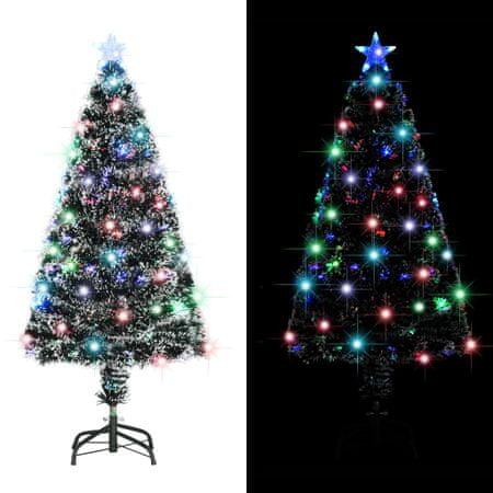 shumee 135 ágas műkarácsonyfa talppal és LED fénnyel 120 cm
