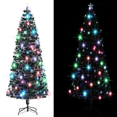 shumee 380 ágas műkarácsonyfa talppal és LED fénnyel 240 cm