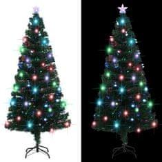 Umelý vianočný stromček s podstavcom a LED 180 cm 220 vetvičiek