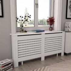 shumee Kryt na radiátor, biely 172x19x81,5 cm, MDF